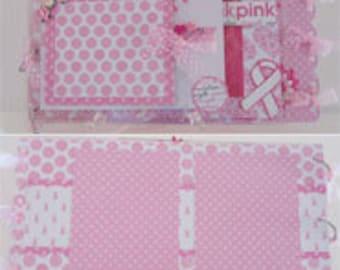 Acrylic Breast Cancer Scrapbook