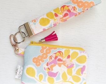 Keychain Pouch // Orchard Blossom Spring by Bonnie Christine