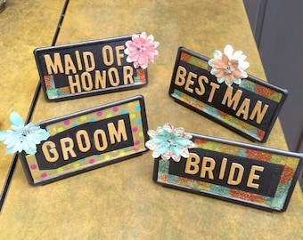 bridal party table markers
