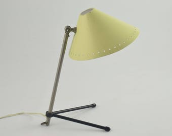 Pinocchio lamp or pinokkio lamp by H.Busquet from hala minimalist industrial icon from the fifties