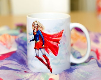Super Girl, Super Hero Mug by Takila