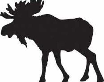 Moose Vinyl Decal/Sticker for your wall, door, car, window, etc.