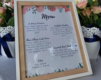 Wedding Menu 8x10 Template