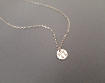 Silver Chai Necklace - Sterling Silver Hand Stamped Chai Necklace - Hebrew Jewelry - Jewish Necklace