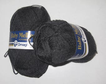 5 balls of wool Baby Melbourne of Ornaghi filati grey 003
