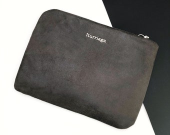 Personalised Faux Suede Laptop Case, Laptop Sleeve, Macbook Case, Surface Pro Case, Macbook Air Case, Macbook Pro Case, All Size Available.