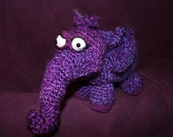 Amigurumi Crochet Pattern - Plump Purple Pachyderm