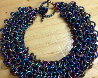 OOAK Niobium Chainmaille Bracelet