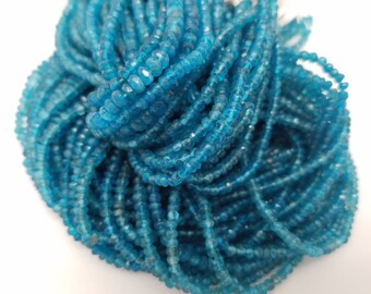 3 - 3.5mm Neon Apatite Faceted Beads