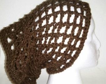 Handmade Crochet Brown Dread Tube, Hippie Dread Tube, Boho Hair Dread Tube, Dread Wrap