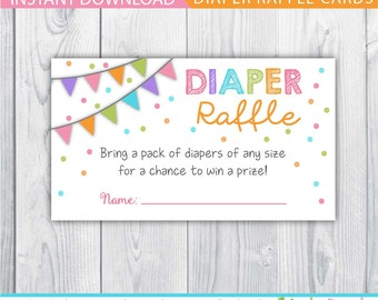 diaper raffle / diaper raffle ticket / printable diaper raffle / baby shower diaper raffle ticket / baby shower games / confetti baby shower