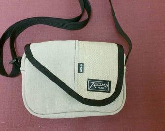 Mayfly Hemp Shoulder Bag (Natural Field Hemp Canvas with Herringbone Accent)