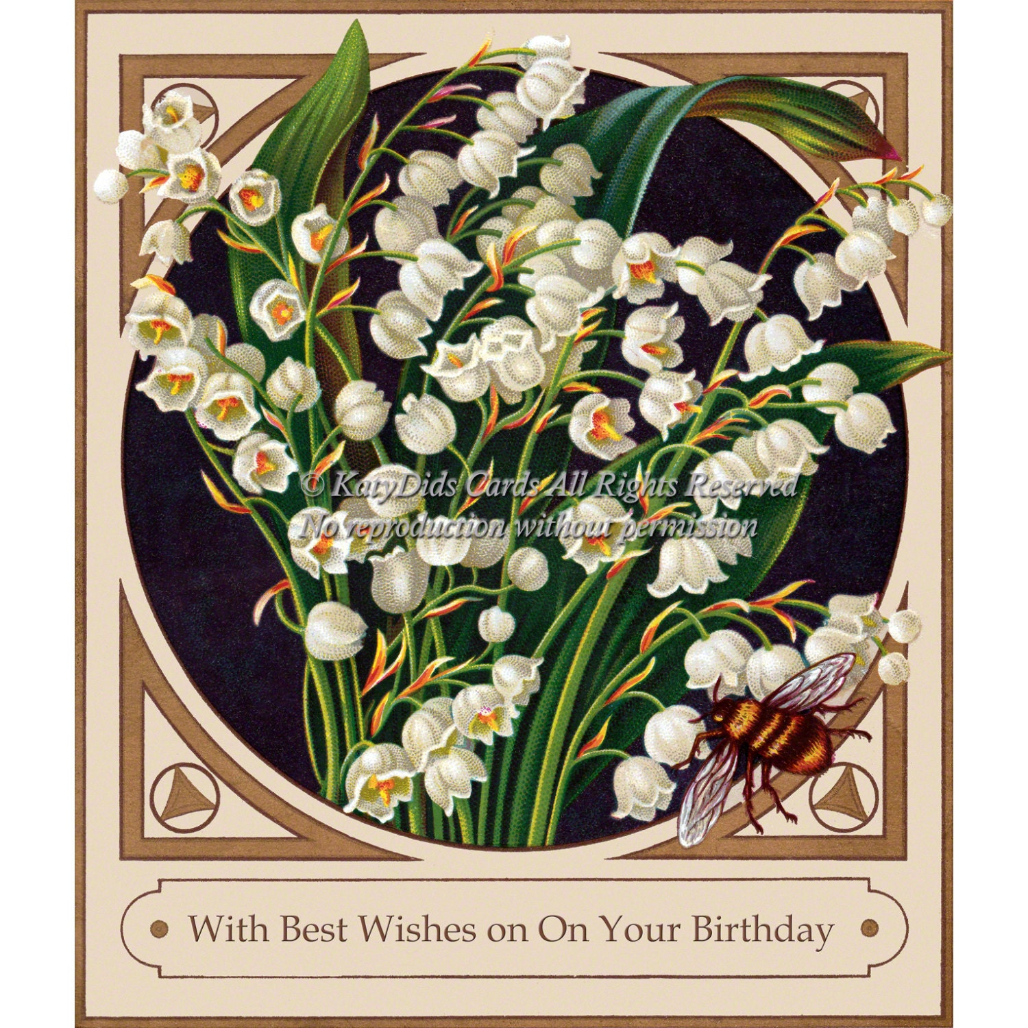 Floral birthday card lily of the valley flowers and honey zoom izmirmasajfo