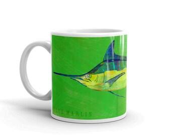 Fathers Day Fishing Gifts for Men, Mug for Him, Husband Gift, Fish Mug, Blue Marlin Mug, Fishing Gift, for Fisherman Gift, Fish Gift for Him