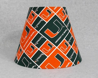 Hurricane lamp shade etsy university of miami lamp shade hurricanes aloadofball