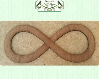 Infinity Symbol -  (Large) Wood Cut Out - Laser Cut