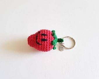 Key Strawberry crochet, handmade
