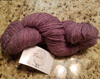 Hand-spun & Hand-dyed 2 ply Worsted Yarn Skein of Gulf Coast Native Yarn