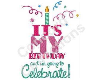 Birthday Celebration Machine Embroidery Design