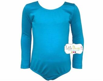 Turquoise Leotard (Child) Long Sleeve Leotard