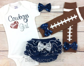 Dallas Cowboys Baby Girl Cheerleader Game Day Outfit