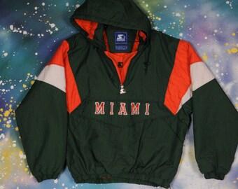 Miami HURRICANES Starter Jacket Size XL