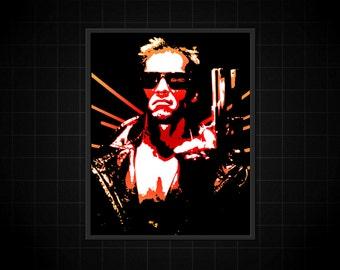 The Terminator - Arnold Schwarzenegger Original Pop-Art Print T-800 8x10 11x14