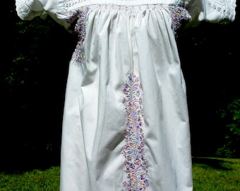 Mexico Vintage  Oaxacan Hand Embroidered  Dress