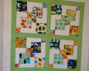Green & Blue Baby Quilt
