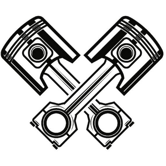 mechanic logo 20 piston crossed cylinder engine auto car part rh etsy com Auto Repair Business Logo Design Auto Repair Shop Inside