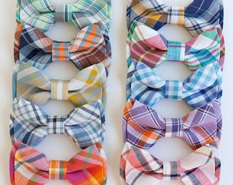 Bow Tie, Bow Ties, Bowties, Boys Bow Ties, Baby Bow Ties, Bowties, Ring Bearer, Bow ties For Boys, Ties - Organic Madras Plaid Collection