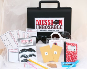One time mailing of 4 Top Secret Agent Detective Spy Kit Missions