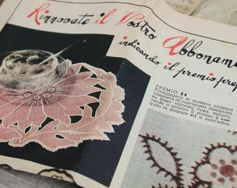 Original Vintage Fee Hände Umschlag Papier Muster