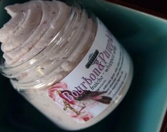 Bourbon & Pumpkin Creme Fraiche Whipped Soap 2 oz