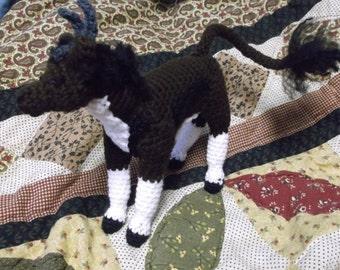 crochet gazelle, gazelle amigurumi, fantasy gazelle, gazelle creature, ready to ship