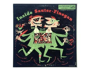 Jim Flora record album design, 1954. Inside Sauter-Finegan LP for RCA Victor LJM-1003