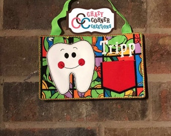 NinjaTurtle tooth fairy hanger-Tooth Fairy door hanger-tooth fairy-door hanger