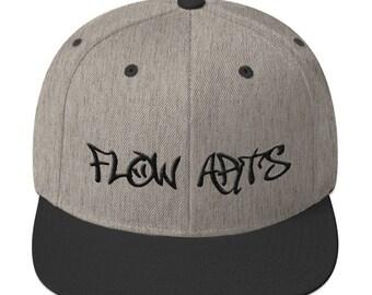 Flow Arts -  Embroidery -  Flow Arts Snapback - Heather/Black