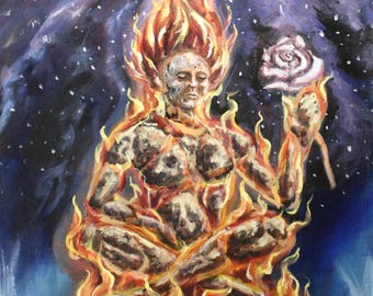 Soul on fire 16x20 original acrylic painting