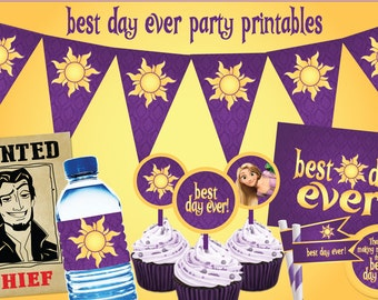 Rapunzel Best Day Ever Party Printables