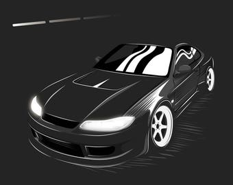 JDM Nissan Silvia S15 Poster / Vector Clipart