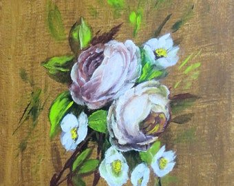 Floral Painting; Original Flower Painting; Fine Art Roses Wall Art