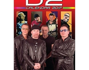 U2 2017 calendar, by Dream,  new and sealed