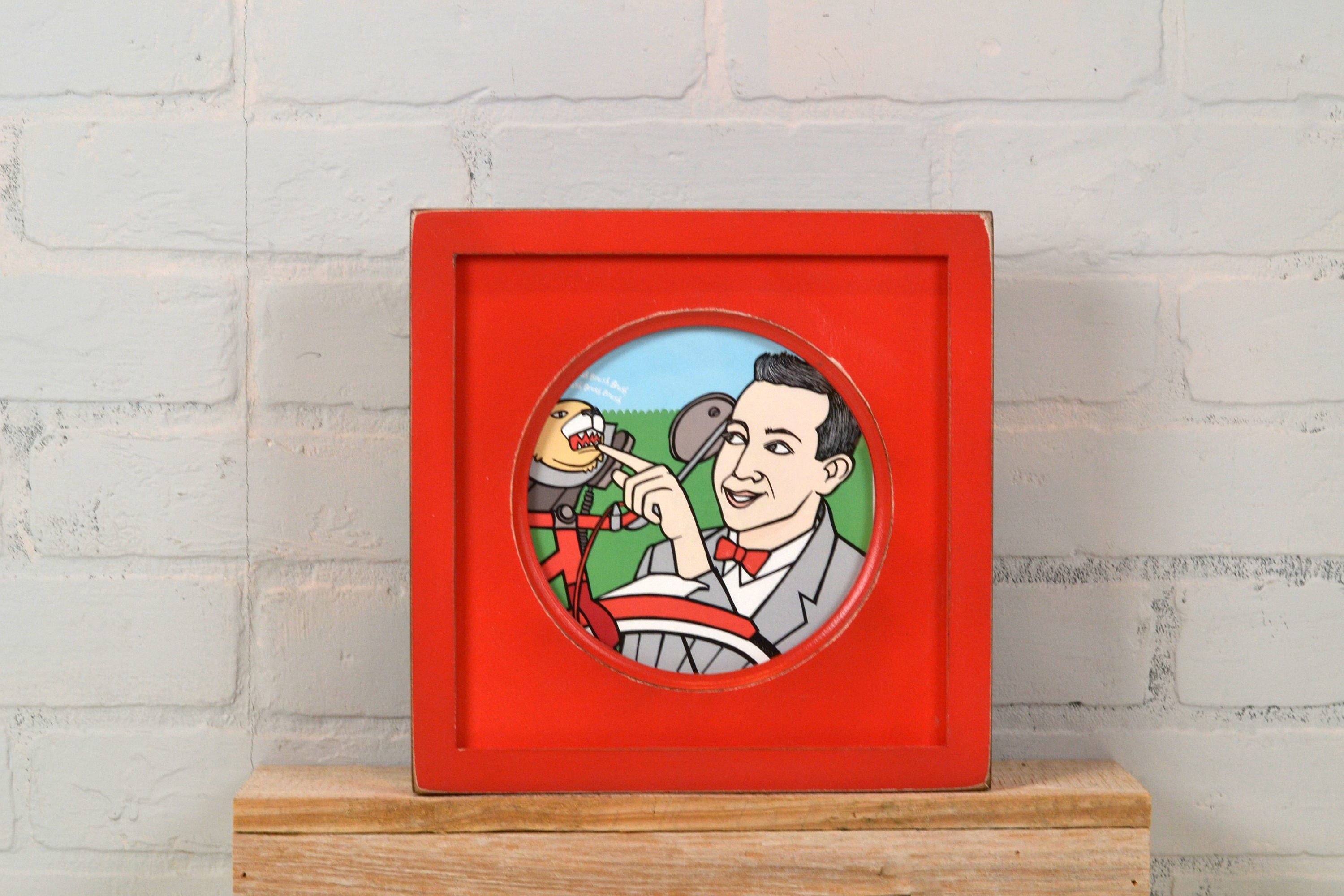 6x6 inch Circle Opening Photo Picture Frame with Deep Flat Build up ...