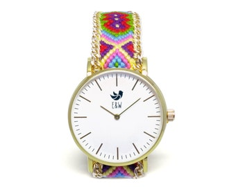 Jelly Beans Boho Braided Watch Timepiece FREE INTERNATIONAL SHIPPING