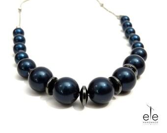 Swarovski and Hematite necklace - Sophie