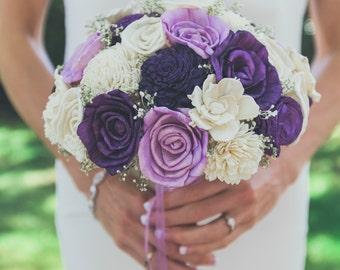 Purple bouquet etsy wedding bouquet mightylinksfo