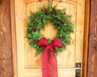 Summer Wreath-Wreath-BOXWOOD Wreath-Winter Door Wreath-Holiday Wreath-Outdoor Wreath-Christmas Wreath-Christmas Home Decor