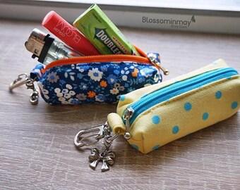 100 FABRICS CHOICE Chapstick keychain, Chapstick cozy, Chapstick holder, Lip Balm Cozy , Lipstick Case Zipper Key Chain, Lip Balm Holder