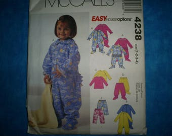 McCalls 4238 Toddlers Size 1-2-3-4.